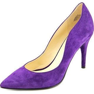 Nine West Fiddler Women Pointed Toe Leather Purple Heels