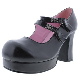 Demonia Womens Gothika Faux Leather Block Mary Jane Heels - 9 medium (b,m)
