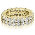 4.40 cttw. 14K Yellow Gold Round Diamond Two Row Eternity Ring - Thumbnail 0