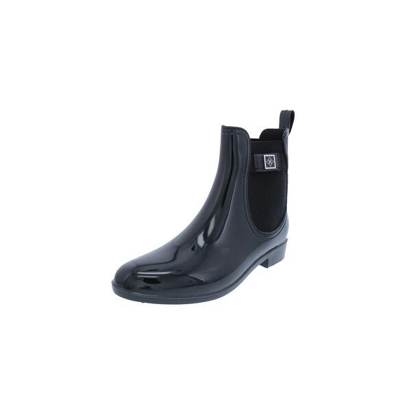 Dav Womens Glasgow Rain Boots Round Toe Embellished