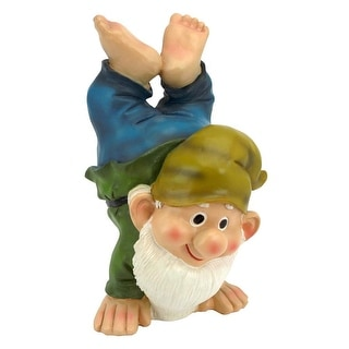 Design Toscano Handstand Henry the Garden Gnome Statue