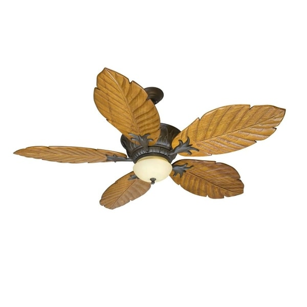 """Craftmade K10344 Pavilion 56"""" 5 Blade Indoor Ceiling Fan - Blades, Remote and Light Kit Included - Aged Bronze"""