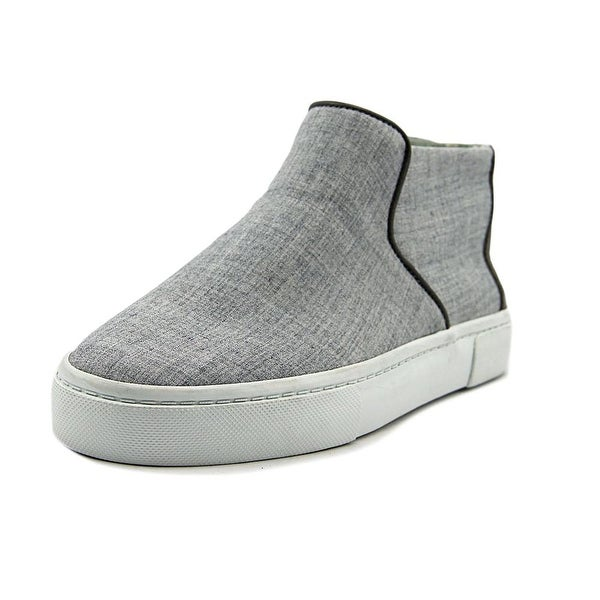 ED Ellen DeGeneres Fallon Women Round Toe Canvas Gray Sneakers