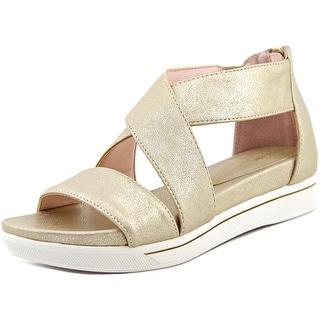 Taryn Rose Claudine Open Toe Leather Platform Sandal