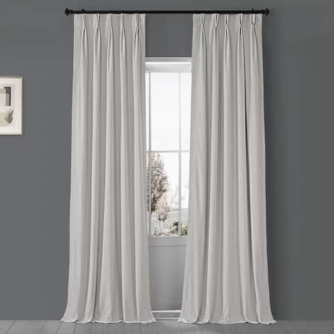 Exclusive Fabrics Signature Pleated Blkt Solid Velvet Curtain Panel