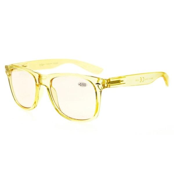 b891cbf674 Shop Eyekepper Blue Light Blocking Digital Eye Strain Prevention Large  Simple Computer Reading Glasses(Yellow