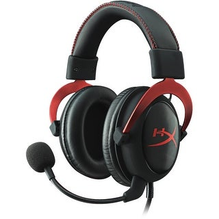 Kingston KHX-HSCP-RD HyperX Cloud ll Over-the-Head Wired Gaming Headset Red
