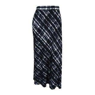 NY Collection Women's Elastic Waist Maxi Skirt