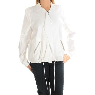 Womens Ivory Zip Up Jacket Size L