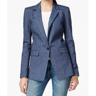 MICHAEL Michael Kors NEW Blue Womens Size 2 Boy-Friend 1-Button Blazer