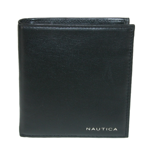 Nautica Mens Leather Bifold Organizer Wallet - One size