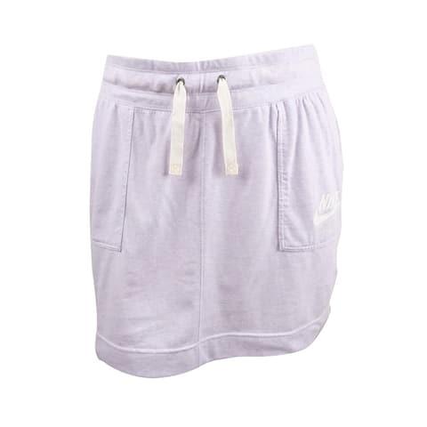 Nike Women's Gym Vintage Skirt (L, Barely Grape) - Barely Grape - L