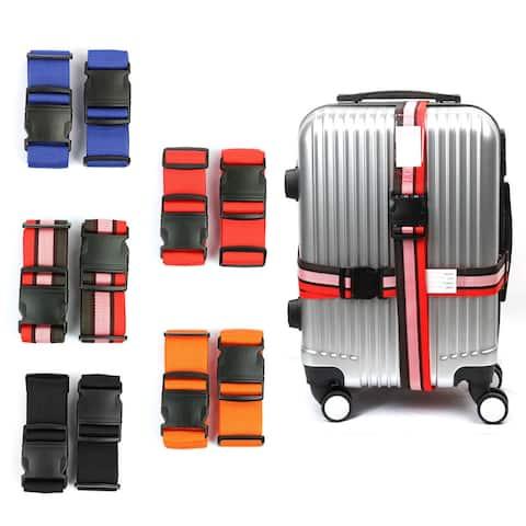 2 pack Backpack Bag Cross Belt Adjustable Travel Luggage Suitcase Strap