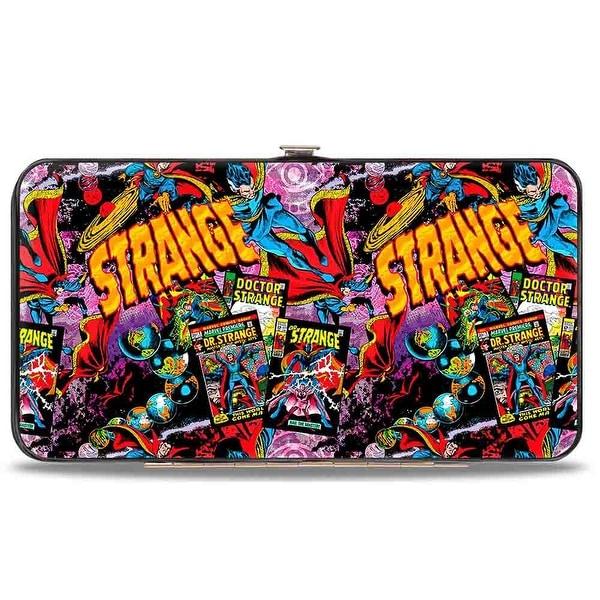 Marvel Comics Classic Doctor Strange Poses Comic Books Strange Eye Of Hinge Wallet One Size - One Size Fits most