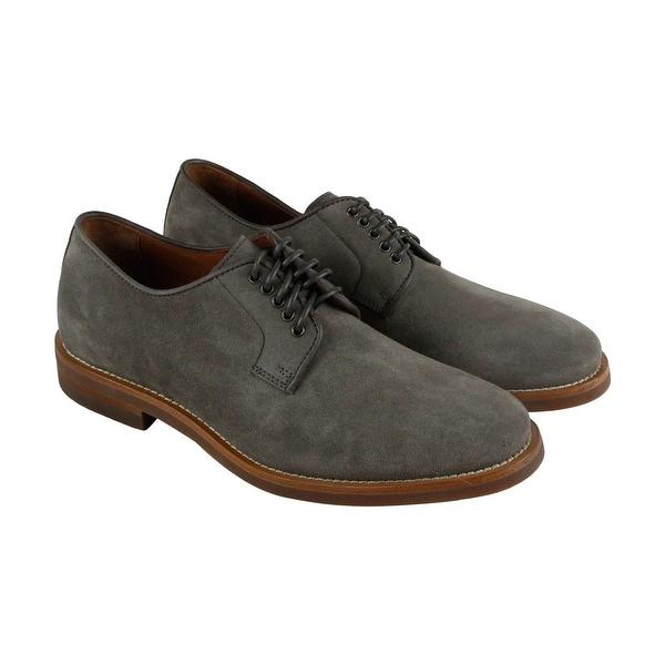 Aquatalia Collin Mens Gray Suede Casual Dress Lace Up Oxfords Shoes