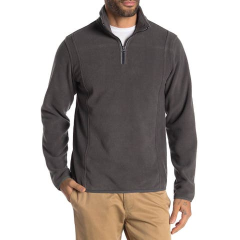 Vintage 1946 Mens Partial Zip Fleece Knit Sweatshirt XX-Large Iron Gate 2XL