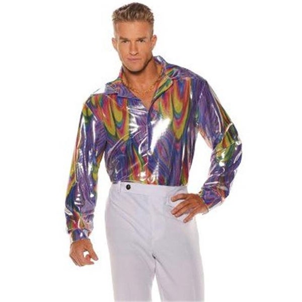Shop Underwraps Disco Shirt Adult Costume for Men - Multicolor 6e6941800082