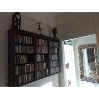 Everett Espresso Wall -hanging Media Storage Cabinet