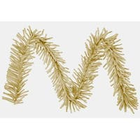 "9' x 10"" Sparkling Champagne Tinsel Artificial Christmas Garland - Unlit - GOLD"