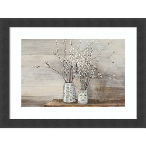 Willow Still Life with Designs by Julia Purinton Framed Wall Art Print