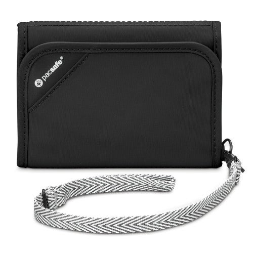 Anti-Theft RFID Blocking Tri-Fold Wallet 10558100-Black Anti-Theft RFID Blocking Tri-Fold Wallet