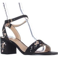 Nanette Lepore Ruby Flower Dress Sandals, Black