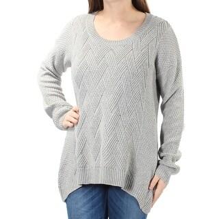 HIPPIE ROSE Womens New 1319 Gray Long Sleeve Trapeze Sweater M Juniors B+B