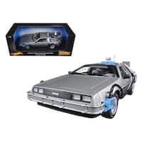 Back To The Future Time Machine Delorean with Mr. Fusion 1/18 Diecast Model Car by Hotwheels