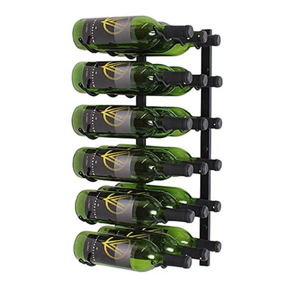 Wine Master Cellars 2ft. Wall Series 18 Bottle Wine Rack Black  sc 1 st  Overstock & Wine Master Cellars 2ft. Wall Series 18 Bottle Wine Rack Black ...