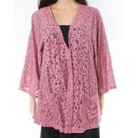 BNLK Pink Lace Open-Front Women's Size Large L Open-Knit Jacket