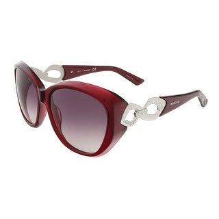 Swarovski SK0086/S 69T Burgundy/Palladium Oval sunglasses - 59-16-130