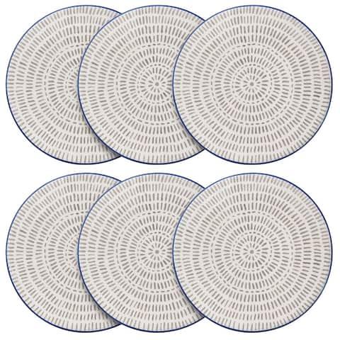 Pfaltzgraff Gray Line 7.5IN Padprint Salad Plate (Set of 6)