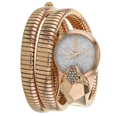 Just Cavalli Women's Glam Snake Silver Dial Watch - JC1L114M0055 - One Size