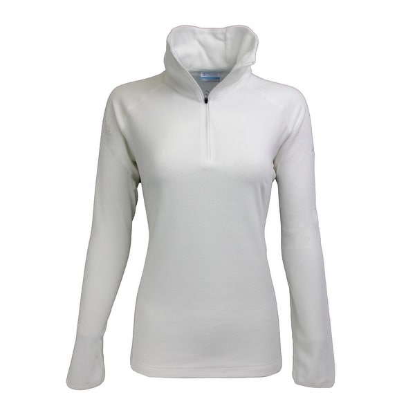 c38b4b0868471 Shop Columbia Women's Glacial III 1/2 Zip Fleece Solid Sea Salt L - sea  salt - Free Shipping On Orders Over $45 - Overstock - 23548221
