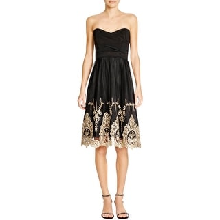 TFNC London Womens Semi-Formal Dress Embroidered Boning - s