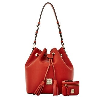 Dooney & Bourke Saffiano Kendall with Small Coin Case (Introduced by Dooney & Bourke at $295 in Aug 2015) - Burnt Orange