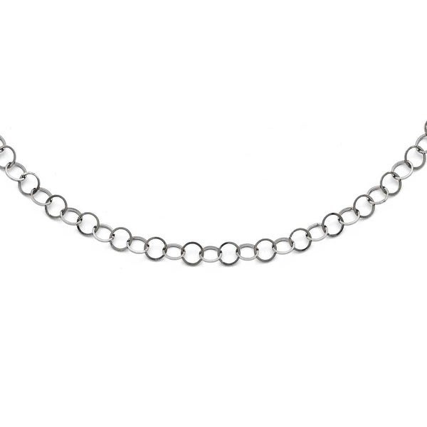 Chisel Stainless Steel Polished Fancy Link Chain - 36 in