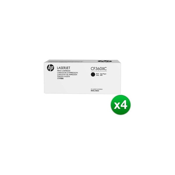 HP 508X Black Contract Toner Cartridge (CF360XC)(4-Pack)