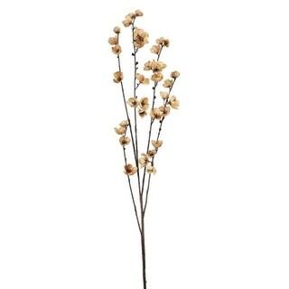 "12 Natural Apple Blossom Decorative Artificial Floral Sprays 42"""