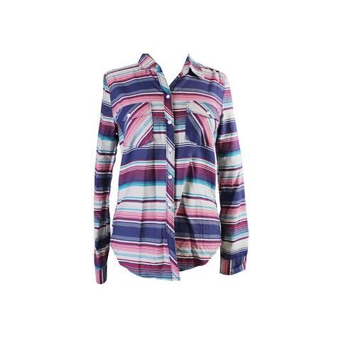 Roxy Juniors Multi Striped Pocket Shirt M