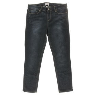 Paige Womens Dark Wash Classic Rise Ankle Jeans - 32
