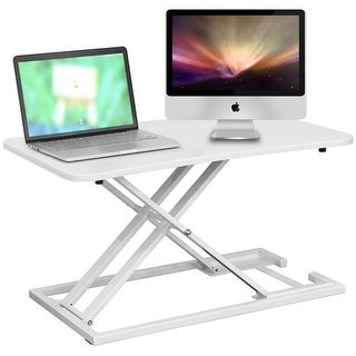 Costway Standing Desk Height Adjustable Sit Stand Steady Instantly Convert Any Desk