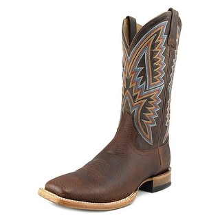 Ariat Hesston Men 2E Square Toe Leather Brown Western Boot