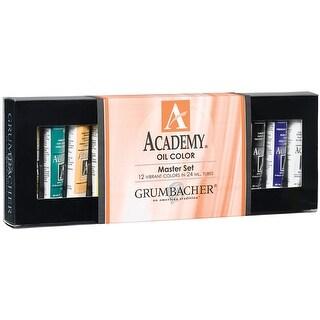 Grumbacher Academy Oil Paints 24ml 12/Pkg-Master Set