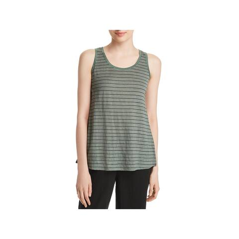 Eileen Fisher Womens Tank Top Organic Linen Striped