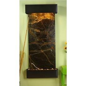 Adagio Inspiration Falls Wall Fountain Rainforest Green Marble Blackened Copper