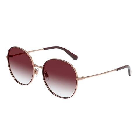 Dolce & Gabanna DG2243 13338H 56 Bordeaux Woman Round Sunglasses