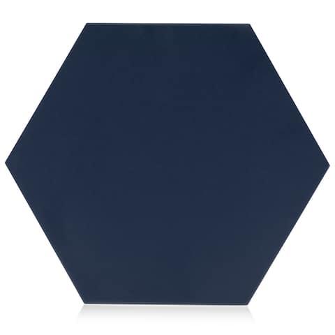 9x10 Hexagon Navy Blue porcelain floor /wall tile (8.03 Sq ft / 16 pcs box)