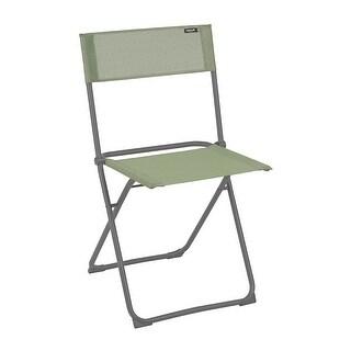 Folding Chair - Set of 2 - Basalt Steel Frame - Moss Fabric