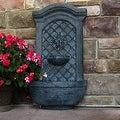 Sunnydaze Rosette Leaf Outdoor Wall Fountain, 31 Inch Tall - Thumbnail 4